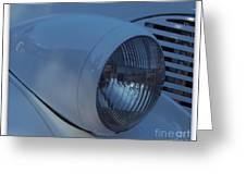 '38 Chevy Head Light Greeting Card