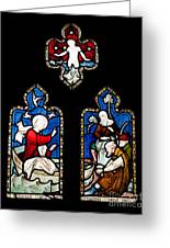 Religious Stained Glass Window Greeting Card