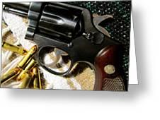38 Revolver Greeting Card