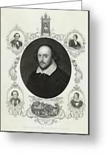 William Shakespeare (1564 - 1616) Greeting Card