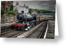 3802 At Llangollen Station Greeting Card