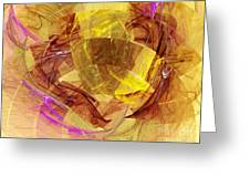 Colorful Abstract Forms Greeting Card