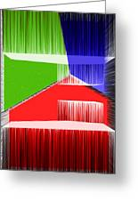 3d Abstract 3 Greeting Card by Angelina Vick