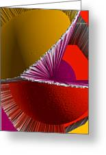 3d Abstract 5 Greeting Card by Angelina Vick