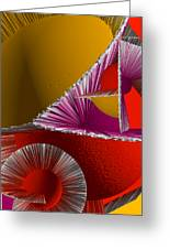 3d Abstract 6 Greeting Card