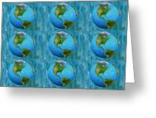 3d Render Of Planet Earth 1 Greeting Card