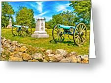 3rd Massachusetts Battery Gettysburg National Military Park Greeting Card