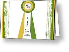 3rd Ribbon Greeting Card