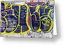 3t Graffiti Greeting Card