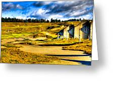 #18 At Chambers Bay Golf Course - Location Of The 2015 U.s. Open Tournament Greeting Card