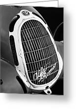 1935 Alfa Romeo 8c-35 Grille Emblem -0006bw Greeting Card