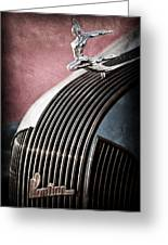 1935 Pontiac Sedan Hood Ornament Greeting Card