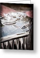 1948 Jaguar Mark Iv Drophead Coupe Hood Ornament Greeting Card