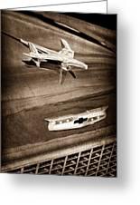 1955 Chevrolet Belair Hood Ornament Greeting Card