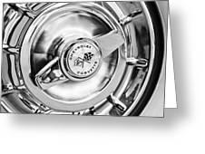 1957 Chevrolet Corvette Wheel Greeting Card