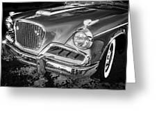 1957 Studebaker Golden Hawk Bw  Greeting Card