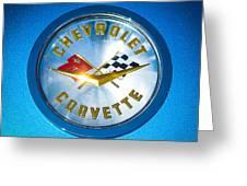1958 Chevrolet Corvette Emblem Greeting Card