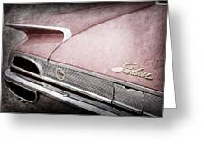 1960 Ford Galaxie Starliner Taillight Emblem Greeting Card
