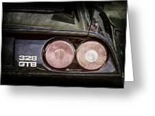 1989 Ferrari 328gtb Taillight Emblem Greeting Card