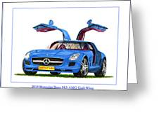 2010 Mercedes Benz S L S Gull-wing Greeting Card