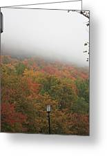 A Foggy Autumn Day At The United States Military Academy At West Greeting Card