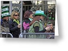 A View Of Some People Enjoying The 2009 New York St. Patrick Day Greeting Card