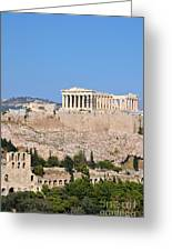 Acropolis Of Athens Greeting Card
