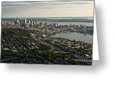 Aerial View Of Seattle Greeting Card