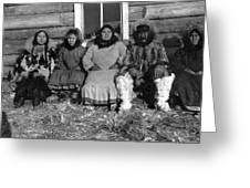 Alaska Eskimo Family Greeting Card