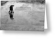 Alone In The Rain Greeting Card
