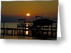 An Outer Banks North Carolina Sunset Greeting Card