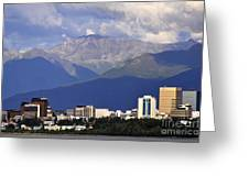 Anchorage Skyline Greeting Card