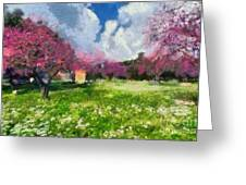 Ancient Olympia During Springtime Greeting Card
