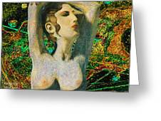 Aphrodite And  Cyprus Map Greeting Card
