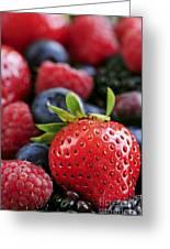 Assorted Fresh Berries Greeting Card