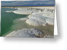 Atacama Salt Lake Near San Pedro De Greeting Card