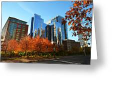 Autumn In Boston Greeting Card