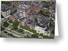 Back Bay District, Boston Greeting Card