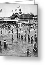 Bathers At Coney Island Greeting Card