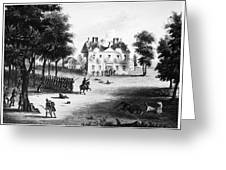 Battle Of Germantown, 1777 Greeting Card