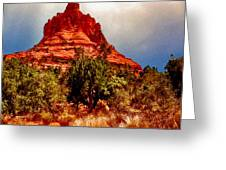 Bell Rock Vortex Painting Greeting Card