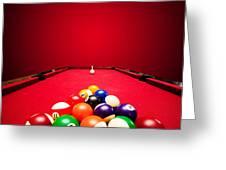 Billards Pool Game Greeting Card