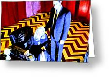 Black Lodge Greeting Card