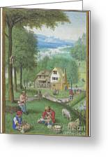 Book Of Hours Greeting Card