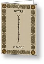 Boyle Written In Ogham Greeting Card