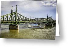 Budapest Bridge Greeting Card