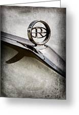 Buick Riviera Hood Ornament  Greeting Card
