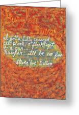 Burglar Beware Greeting Card by Joe Dillon