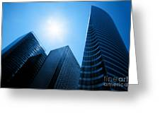 Business Skyscrapers Greeting Card