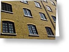 Butlers Wharf Windows Greeting Card